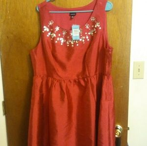 Magenta Party/Cocktail Dress with Gems NWT